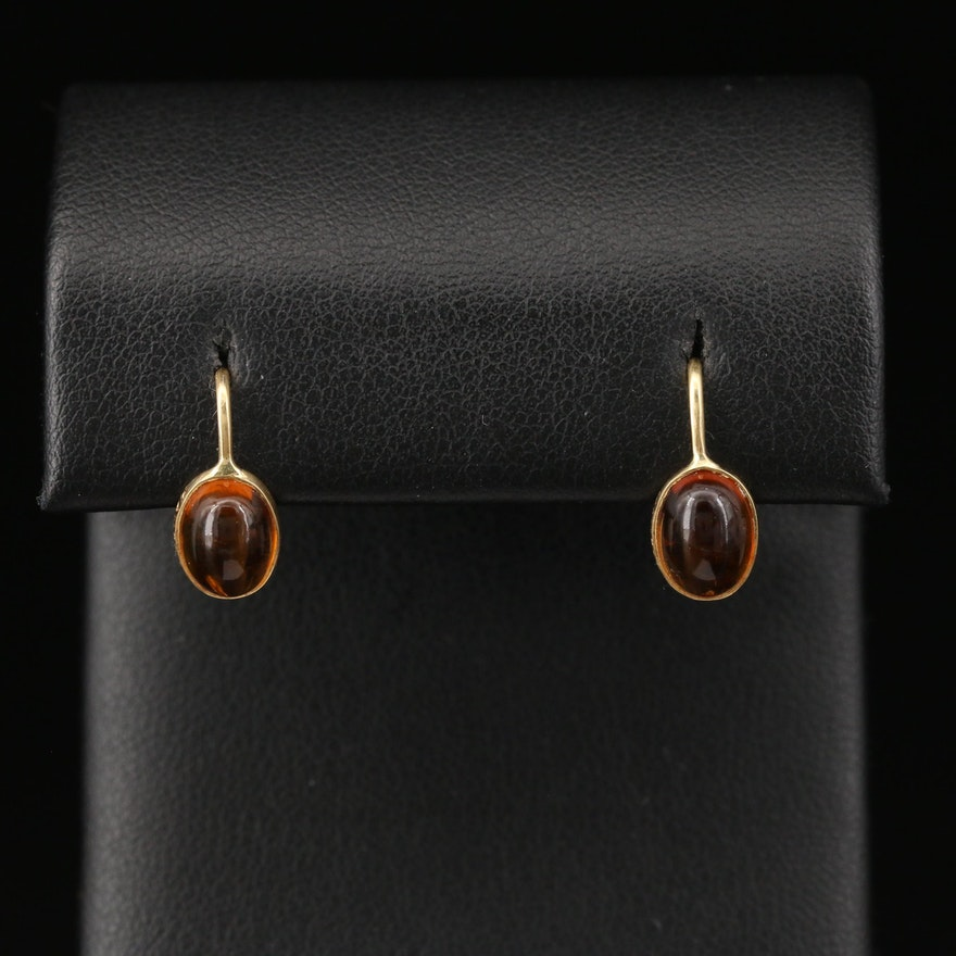 Manfred 18K Citrine Dangle Earrings