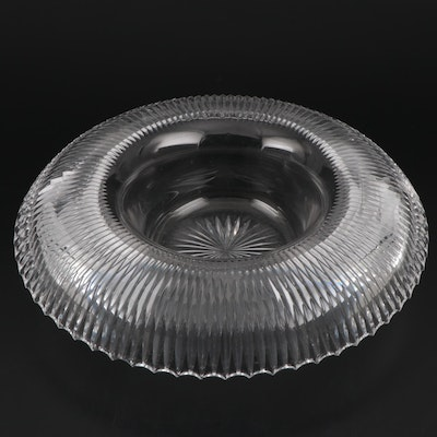 Cut Crystal Centerpiece Bowl, 20th Century