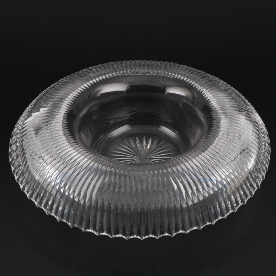 Cut Crystal Centerpiece Bowl, 20th Century