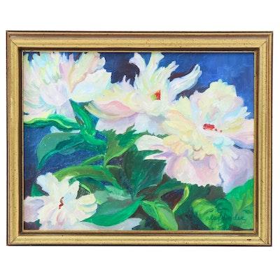 """Lorraine Alexander Floral Oil Painting """"Peonies"""""""