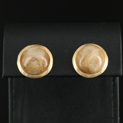 14K Calcareous Concretion Stud Earrings