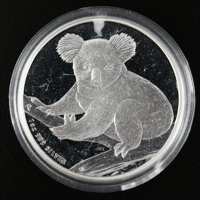 2009 Australian 1 Oz .999 Fine Silver Koala Dollar