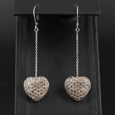 14K 3.06 CTW Diamond Heart Dangle Earrings