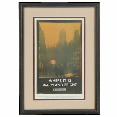 "London Travel Poster After Verney L. Danvers ""Where it is Warm and Bright,"" 1985"