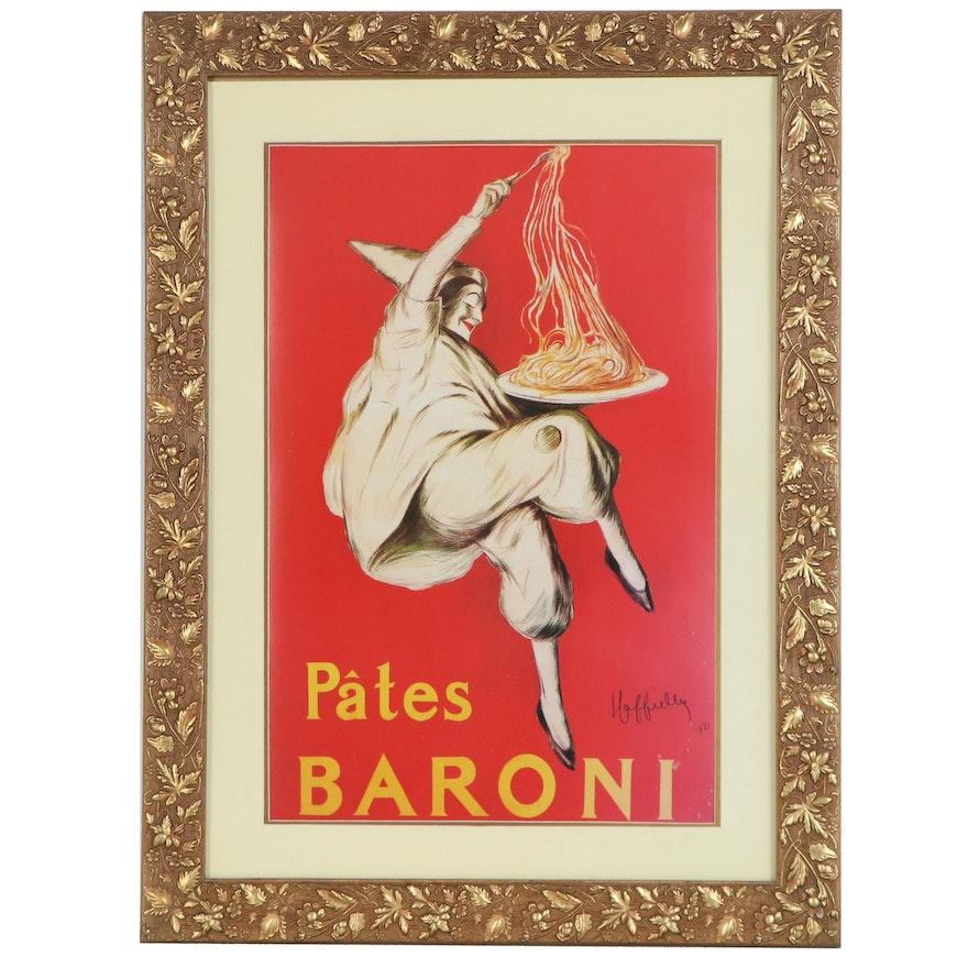 """Offset Lithograph Poster after Leonetto Cappiello """"Pâtes Baroni"""""""