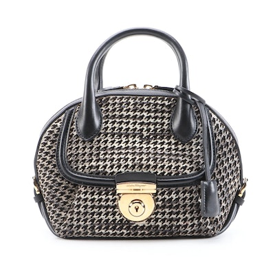 Salvatore Ferragamo Fiamma Bag in Laser-Cut Lizard Embossed and Smooth Leather