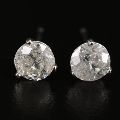 14K 1.32 CTW Diamond Stud Earrings