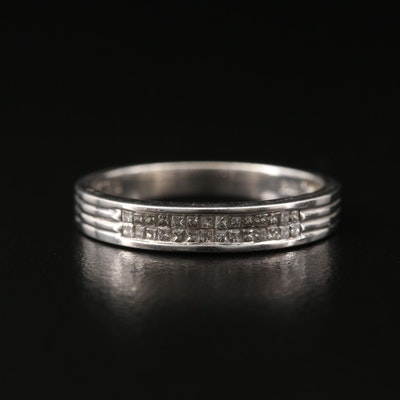 10K Princess Cut Diamond Band