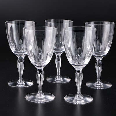 Five Crystal Wine Glasses