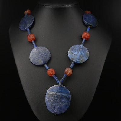 Lapis Lazuli and Agate Necklace