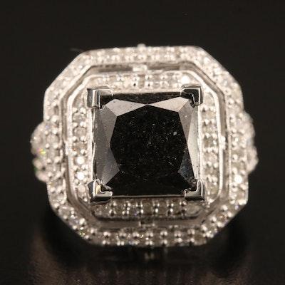 14K 8.76 CTW Diamond Ring with Double Halo