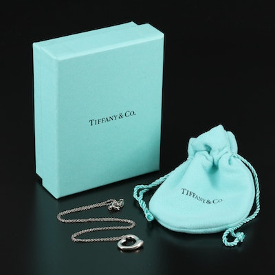 "Elsa Peretti for Tiffany & Co. ""Open Heart"" Sterling Necklace"