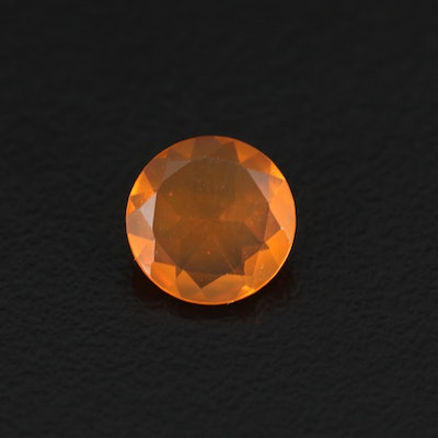 Loose 1.14 CT Round Faceted Fire Opal