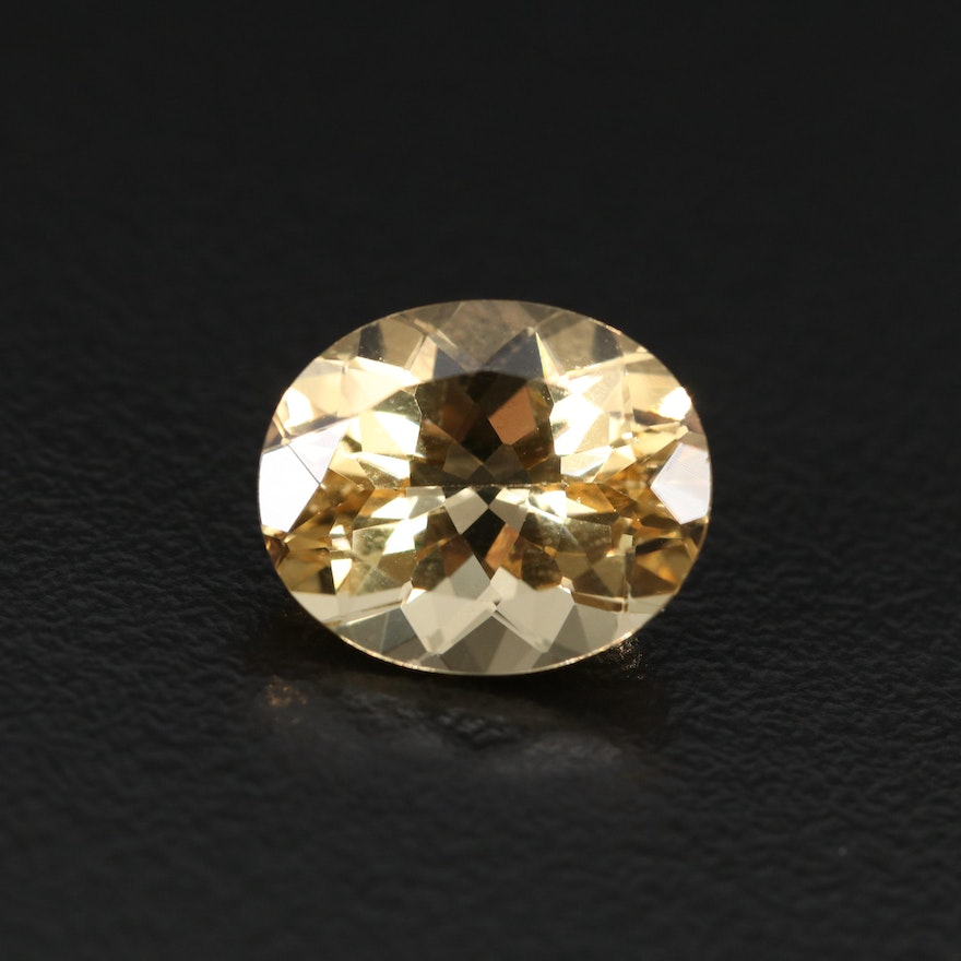Loose 4.77 CT Oval Faceted Heliodor