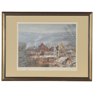 """James D. Werline Offset Lithograph """"Queen City Treasures,"""" Late 20th Century"""