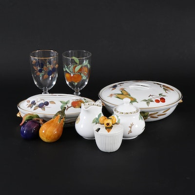 "Royal Worcester ""Evesham Gold"" Bakeware and Other Fruit Themed Serveware"