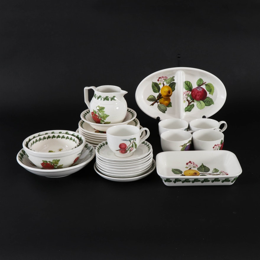 "Portmeirion ""Pomona"" and ""Strawberry Fair"" Porcelain Tableware"