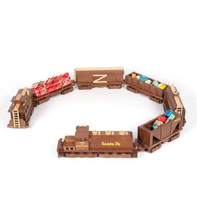 Woodcrafters of Ohio Handcrafted Walnut Wood Toy Train