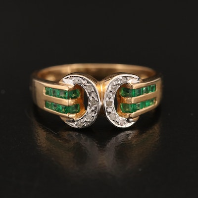 14K Tsavorite and Diamond Band