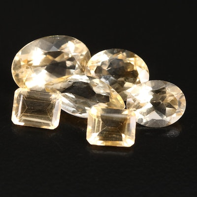 Loose 16.27 CTW Faceted Citrines