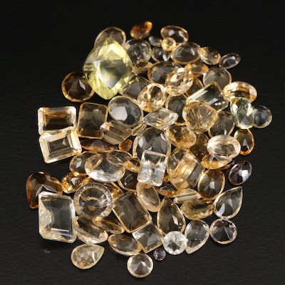 Loose 62.72 CTW Faceted Citrines