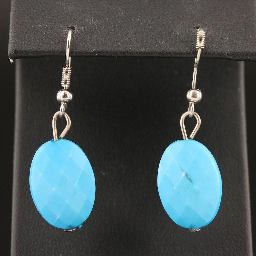 Faceted Resin Drop Earrings