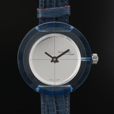 Vintage American Heritage Lucite Stem Wind Wristwatch