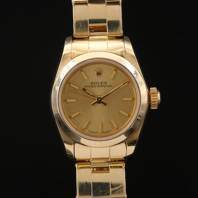 1983 Rolex Oyster Perpetual 14K Yellow Gold Automatic Wristwatch