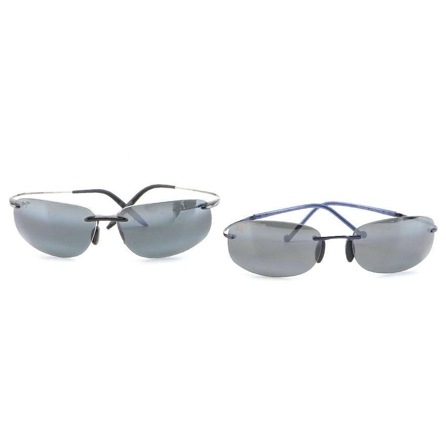Maui Jim Honolua Bay Rimless Sunglasses with Cases