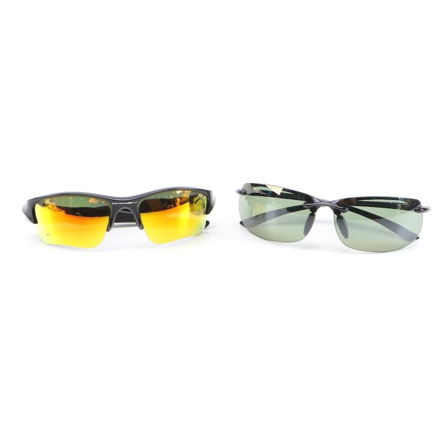 Oakley Flak Jacket XIJ and MJ Sport Banjans Sunglasses