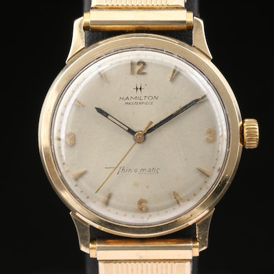 Vintage Hamilton Masterpiece Thin-O-Matic 10K Gold Automatic Wristwatch