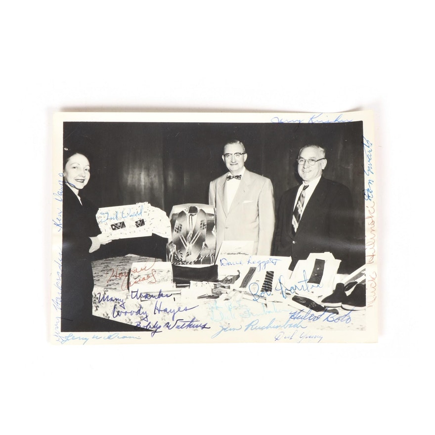 Woody Hayes, Howard Hopalong Cassady and Others Autographed Photograph