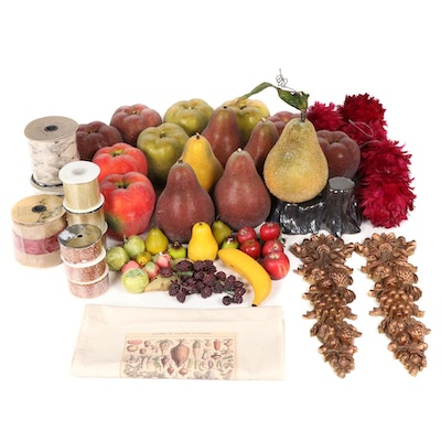 Fall Fruit and Plant Themed Table and Wall Decor