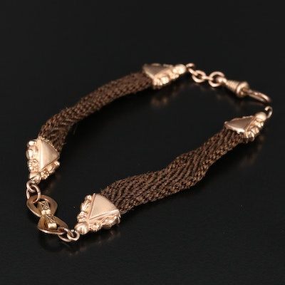 Victorian Hair Work Watch Chain