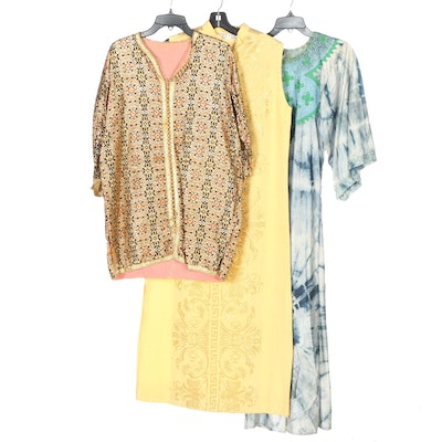Embroidered and Metallic Thread Tunics and Dress