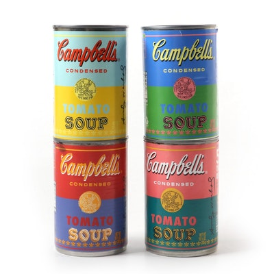 "Limited Edition Andy Warhol ""50 Years The Art of Soup"" Campbell's Soup Cans"
