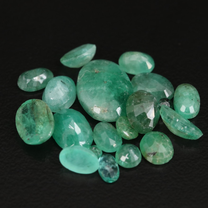 Loose 11.58 CTW Faceted Emeralds