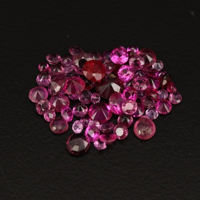 Loose 4.95 CTW Round Faceted Rubies and Garnets