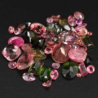 Loose 18.22 CTW Faceted Tourmalines and Diopsides