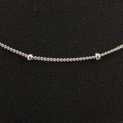 Sterling Silver Station Necklace