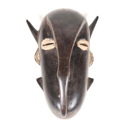 Djimini Style Wooden Spirit Mask, Côte d'Ivoire