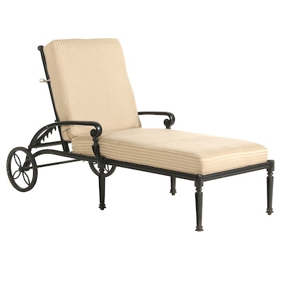 Frontgate Iron Framed Patio Chaise Lounge