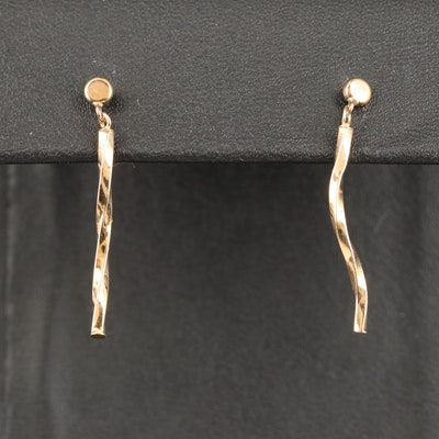 10K Twist Drop Earrings