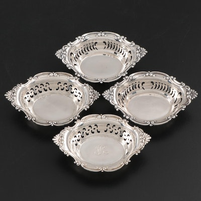 Gorham and Barker Brothers Silver Ltd. Sterling Silver Pierced Nut Bowls