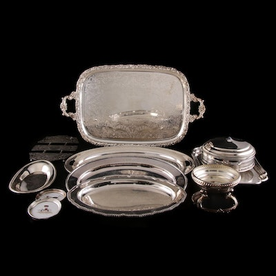 International and Other Silver Plate Serving Pieces, Mid to Late 20th Century