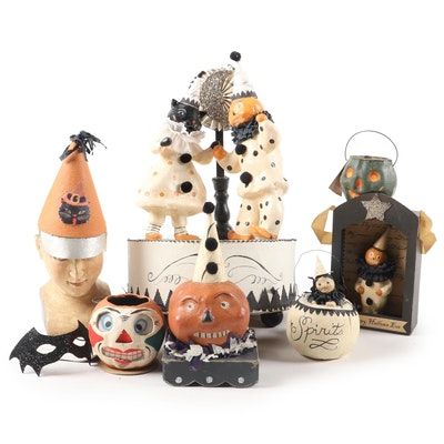 Papier-mâché Halloween Decor Featuring Bethany Lowe Designs