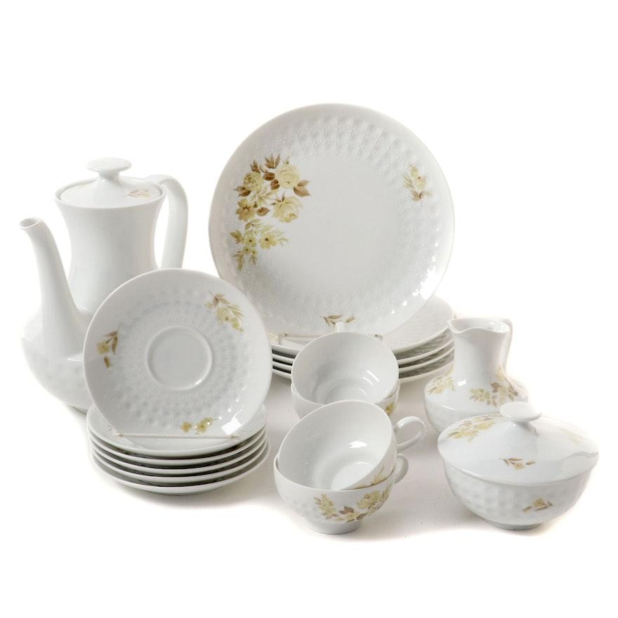 Edelstein German Porcelain Coffee and Dessert Service, Mid-20th Century