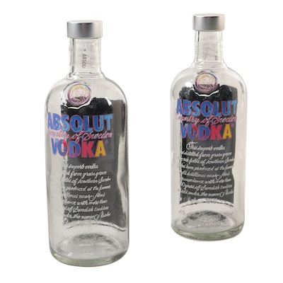 """Absolut Andy Warhol """"Something..."""" Limited Edition Vodka Bottles"""