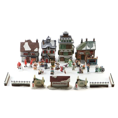 Dept. 56 Dickens' Village and North Pole Porcelain Buildings and Accessories