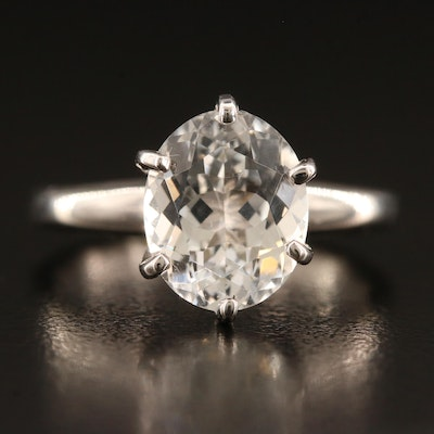 14K Topaz Solitaire Ring